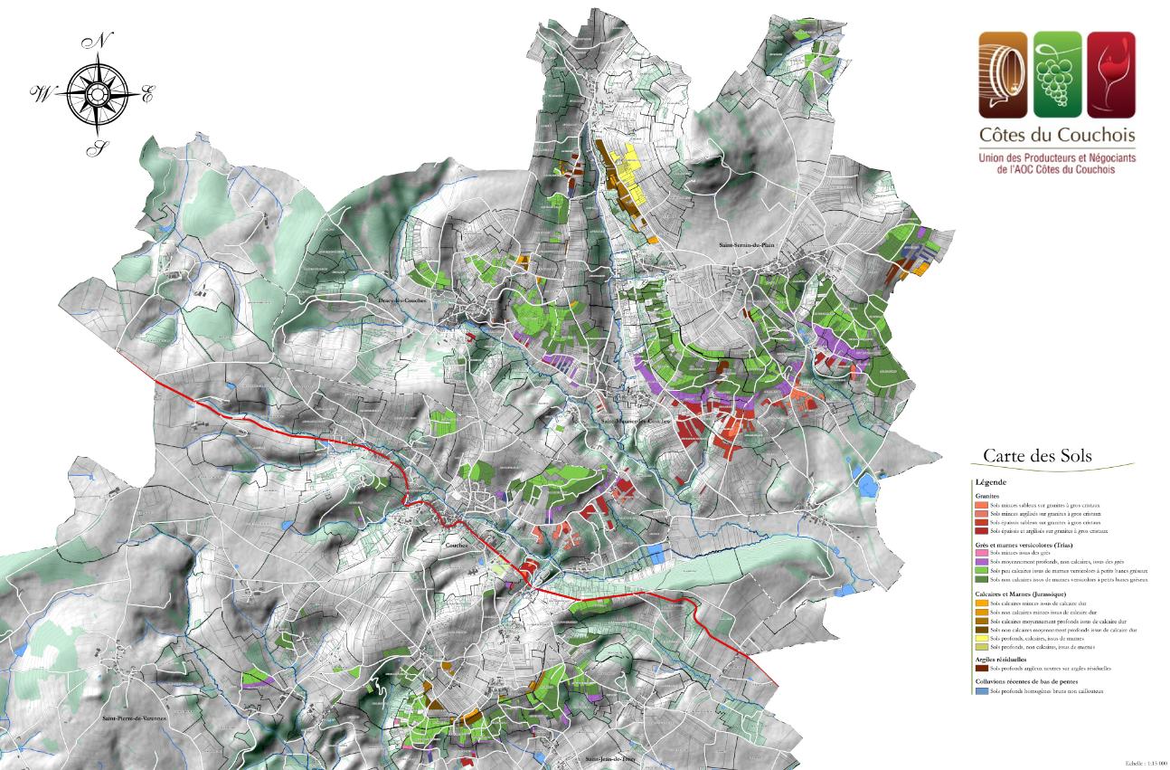 Carte des sols des Côtes du Couchois